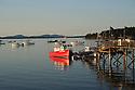 Bar Harbor red boat