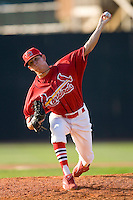 John Durham #19 of the Johnson City Cardinals in action versus the Burlington Royals at Howard Johnson Stadium June 27, 2009 in Johnson City, Tennessee. (Photo by Brian Westerholt / Four Seam Images)