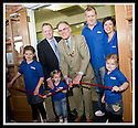 04/05/2009  Copyright  Pic : James Stewart.41_the_buzz.**** FREE FIRST USE WHEN USED IN RELATION TO  OPENING OF THE BUZZ ****.THE UK'S LARGEST SOFT PLAY AND LASER QUEST ARENA OPENS IN FALKIRK...... .FALKIRK PROVOST, PAT REID, PERFORMS THE OFFICIAL OPENING...... LtoR : Front LAURYN TURNBULL (9), MELISSA TURNBULL (2), JESSICA TURNBULL (5).. Rear NIGEL TURNBULL, PAT REID, CRAIG TURNBULL....For more information contact Jonathan Kennedy or Alison Jack at Wave PR on 0141 303 8390 / 07803 137262..James Stewart Photography 19 Carronlea Drive, Falkirk. FK2 8DN      Vat Reg No. 607 6932 25.Telephone      : +44 (0)1324 570291 .Mobile              : +44 (0)7721 416997.E-mail  :  jim@jspa.co.uk.If you require further information then contact Jim Stewart on any of the numbers above.........