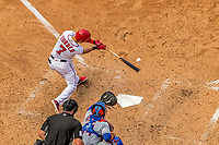 30 April 2017: Washington Nationals infielder Trea Turner at bat in the 5th inning against the New York Mets at Nationals Park in Washington, DC. The Nationals defeated the Mets 23-5, with the Nationals setting several individual and team records, in the third game of their weekend series. Mandatory Credit: Ed Wolfstein Photo *** RAW (NEF) Image File Available ***
