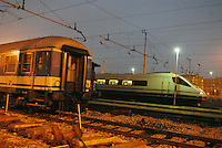 - Trenitalia, Pendolino train parked in Milan Central Station....- Trenitalia, treno Pendolino in sosta alla Stazione Centrale di Milano
