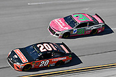 #20: Erik Jones, Joe Gibbs Racing, Toyota Camry Craftsman, #31: Ryan Newman, Richard Childress Racing, Chevrolet Camaro Liberty National