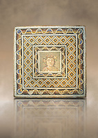 Roman mosaic of a bust of Dionysus from the Via Flaminia, Rome. 3rd century AD. National Roman Museum, Rome, Italy