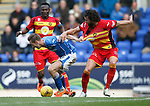 St Johnstone v Partick Thistle....17.10.15  SPFL     McDiarmid Park, Perth<br /> Steven MacLean and Daniel Seaborne<br /> Picture by Graeme Hart.<br /> Copyright Perthshire Picture Agency<br /> Tel: 01738 623350  Mobile: 07990 594431