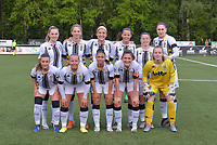 players of Charleroi with Renate-Ly Mehevets , Ludmila Matavkova , Madison Hudson , Alyson Duterne , Chrystal Lermusiaux , Estelle Dessilly , Jennifer Bouchena , Megane Vos , Jessica Da Silva Valdebenito , Noemie Fourdin and Ambre Collet pictured posing for the teampicture during a female soccer game between  Racing Genk Ladies and Sporting Charleroi on the 9 th matchday of play off 2 in the 2020 - 2021 season of Belgian Scooore Womens Super League , saturday 22 nd of May 2021  in Genk , Belgium . PHOTO SPORTPIX.BE | SPP | STIJN AUDOOREN