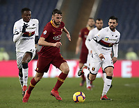 Football, Serie A: AS Roma - Genoa, Olympic stadium, Rome, December 16, 2018. <br /> Roma's  in action during the Italian Serie A football match between Roma and Genoa at Rome's Olympic stadium, on December 16, 2018.<br /> UPDATE IMAGES PRESS/Isabella Bonotto
