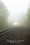 Train in Fog, Pocono Mts, PA