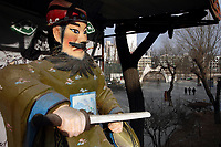 China. Jilin Province. A statue in a park in the town of Yanji, close to the border with North Korea. The town is part of the Korean Autonomous Prefecture in the north-east of the country. 2011