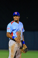 Tennessee Smokies third baseman Jeimer Candelario (9) in action against Biloxi Shuckers at MGM Park on May 2, 2016 in Biloxi, Mississippi. (Derick E. Hingle/Four Seams Images)