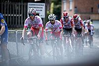 Zico Waeytens (BEL/Cofidis) and Nacer Bouhanni (FRA/Cofidis) in the peloton<br /> <br /> Heistse Pijl 2019<br /> One Day Race: Turnhout > Heist-op-den-Berg 194km (UCI 1.1)<br /> ©kramon