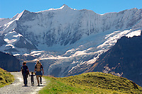 Grindelwald First- Family Walking  - Grindelwald First- Swiss Alps, Switzerland