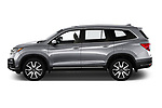 Car Driver side profile view of a 2022 Honda Pilot Touring-2WD 5 Door suv Side View