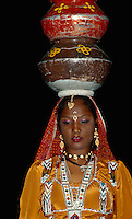 Folklore im Samode Palast Hotel, Jaipur (Rajasthan), Indien