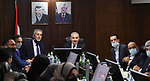 Palestinian Prime Minister Mohammed Ishtayeh meets with Minister of Local Government Majdi Al-Saleh, in the West Bank city of Al-Bireh on September 21, 2021. Photo by Prime Minister Office