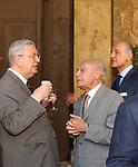 GAETANO GIFUNI CON GUSTAVO SELVA<br /> INAUGURAZIONE NUOVA SEDE DELLA BIBLIOTECA DEL SENATO -<br /> PIAZZA DELLA MINERVA ROMA 2003