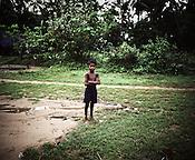 A little boy is seen in Dinghia village in Orissa, India.