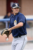 June 21st 2008:  Pitcher Travis Turek of the Mahoning Valley Scrappers, Class-A affiliate of the Cleveland Indians, during a game at Dwyer Stadium in Batavia, NY.  Photo by:  Mike Janes/Four Seam Images