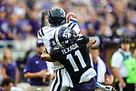 TCU Horned Frogs cornerback Ranthony Texada (11) in action during the game between the Jackson State Tigers and the TCU Horned Frogs at the Amon G. Carter Stadium in Fort Worth, Texas.