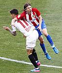 Atletico de Madrid's Filipe Luis (r) and Sevilla FC's Joaquin Correa during La Liga match. March 19,2017. (ALTERPHOTOS/Acero)