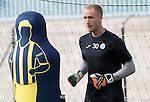 St Johnstone Training….26.08.16<br />Keeper Mark Hurst pictured during training this morning at McDiarmid Park who has agreed a loan deal with East Fife<br />Picture by Graeme Hart.<br />Copyright Perthshire Picture Agency<br />Tel: 01738 623350  Mobile: 07990 594431