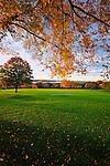 Landscape and golf course of Kykuit.  Rockefeller estate in Pocantico Hills, New York