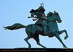 Kusunoki Masashige Samurai Emperor Go-Daigo Statue Kokyogaien Park Imperial Palace Tokyo