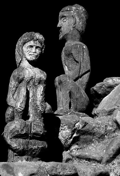 Wood carvings of old Ifugao idols/Gods, Philippines