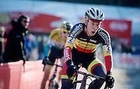 Belgian Champion Laurens Sweeck (BEL/Corendon-Kwadro)<br /> <br /> U23 race<br /> Krawatencross <br /> bpost bank trofee 2015