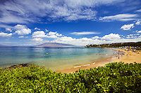 Wailea Beach, Maui with the West Maui Mountains in the distance.
