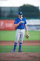 Ogden Raptors starting pitcher Brett de Geus (36) during a Pioneer League game against the Orem Owlz at Home of the OWLZ on August 24, 2018 in Orem, Utah. The Ogden Raptors defeated the Orem Owlz by a score of 13-5. (Zachary Lucy/Four Seam Images)