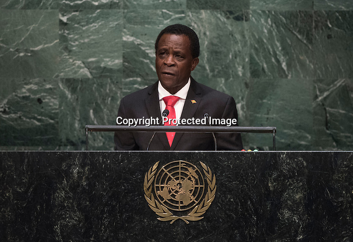 . His Excellency Keith Mitchell, Prime Minister of Grenada  <br /> General Assembly Seventieth session 9th plenary meeting: High-level plenary meeting of the (6th meeting)