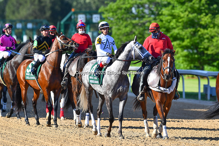 Gouverneur Morris (4) with jockey John Velazquez aboard during the 1st division of the Arkansas Derby at Oaklawn Racing Casino Resort in Hot Springs, Arkansas on May 2, 2020. Ted McClenning/Eclipse Sportswire/CSM