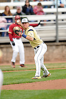 Georgia Tech Yellow Jackets infielder Sam Dove # 31 during a game versus the Boston College Eagles at Shea Field on the campus of Boston College in Chestnut Hill, Massachusetts on March 24, 2012  (Ken Babbitt/Four Seam Images)