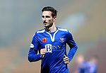 St Johnstone v Kilmarnock…06.11.20   McDiarmid Park SPFL<br />Scott Tanser wearing the poppy for remembrance day<br />Picture by Graeme Hart.<br />Copyright Perthshire Picture Agency<br />Tel: 01738 623350  Mobile: 07990 594431