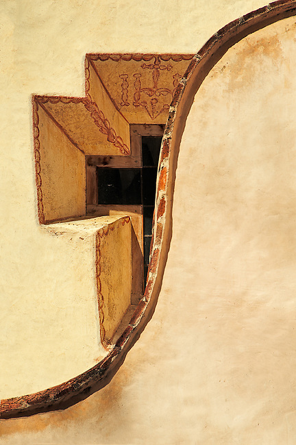 An architectural detail from the Santuatrio de Atotonilco, a Unesco World Heritage site near San Miguel Allende in Mexico.