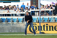 SAN JOSE, CA - JULY 24: Pre-game fan PK before a game between Houston Dynamo and San Jose Earthquakes at PayPal Park on July 24, 2021 in San Jose, California.