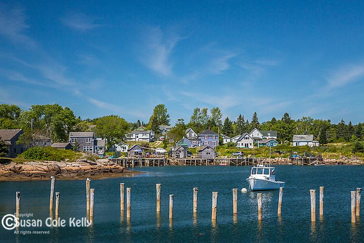 Harbor scene in Corea Harbor, Gouldsboro, Maine, USA