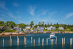 Harbor scene in Corea Harbor, Gouldsboro, Maine, USA