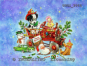 GIORDANO, CHRISTMAS ANIMALS, WEIHNACHTEN TIERE, NAVIDAD ANIMALES, paintings+++++,USGI2066,#XA#