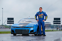 Sep 1, 2019; Clermont, IN, USA; NHRA pro mod driver Alex Laughlin poses for a portrait during qualifying for the US Nationals at Lucas Oil Raceway. Mandatory Credit: Mark J. Rebilas-USA TODAY Sports