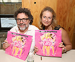 Composer Jeff Richmond and lyricist Nell Benjamin attend the 'Mean Girls' Original Broadway Cast Linyl Release at the Herald Square Urban Outfitters' on August 28, 2018 in New York City.