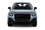 Car photography straight front view of a 2021 Audi Q2 Edition-One 5 Door SUV Front View