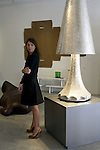 Clemence Krzentowski gallerist from Galerie Kreo Paris, France at Design Miami.....Art Basel invades Miami every year in December. This is it's fifth year in South Florida. Galleries from all around the world come to Miami to show their latest works. Over $100 million worth of art was sold during the week of December 7-10.
