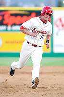 July 21st 2008:  Matt West of the Spokane Indians, Short Season Class-A affiliate of the Texas Rangers, during a game at Home of the Avista Stadium in Spokane, WA.  Photo by:  Matthew Sauk/Four Seam Images