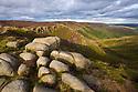 Kinder Scout, Peak District National Park, Derbyshire, UK. September.