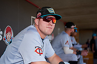 Salt River Rafters Luke Raley (25), of the Minnesota Twins organization, before the Arizona Fall League Championship Game against the Surprise Saguaros on October 26, 2019 at Salt River Fields at Talking Stick in Scottsdale, Arizona. The Rafters defeated the Saguaros 5-1. (Zachary Lucy/Four Seam Images)