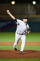 Scottsdale Scorpions pitcher Brody Koerner (55), of the New York Yankees organization, during a game against the Salt River Rafters on October 12, 2016 at Scottsdale Stadium in Scottsdale, Arizona.  Salt River defeated Scottsdale 6-4.  (Mike Janes/Four Seam Images)