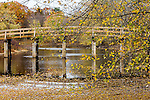 The North Bridge in Minuteman National Park in Concord, Massachusetts, USA
