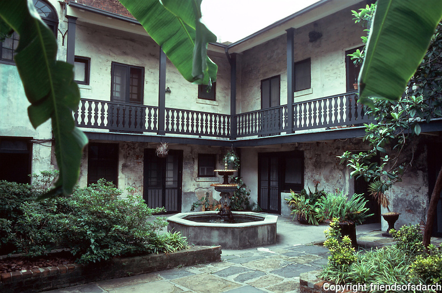 New Orleans:  617-619 Chartres--courtyard.