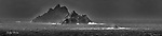 The panorama view of the three Skellig Rocks off South Kerry.<br /> Photo Don MacMonagle